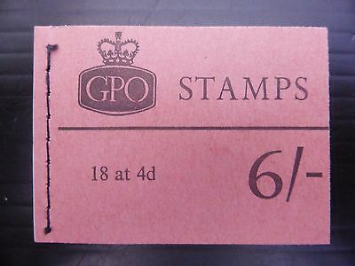 GB Wilding October 1967 - 6/- Booklet QP29 with One Pane Cyl No FP8276