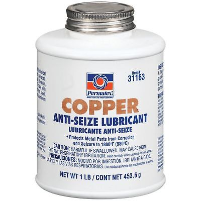 Permatex 31163 Copper Anti-Seize Lubricant High-Temperature, 1LB 453g