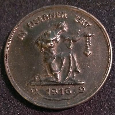 ✚5761✚ German Iron Medal for patriots WW1 1916 plaque IRON FOR GOLD MAGNETIC