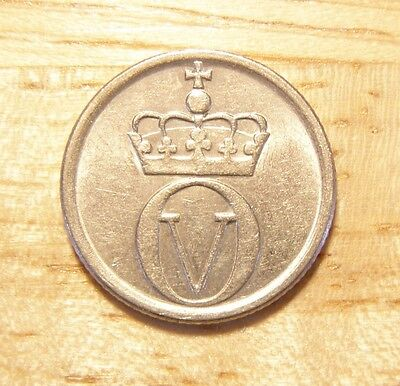 Norway Norwegian Norge 10 Ore coin 1966