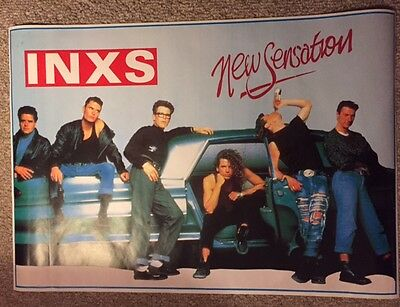 """Inxs Poster """"new Sensation"""" 1988 Vintage Rare Uk Import Group In Mint Condition"""