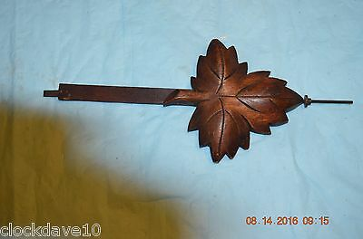 Antique wall cuckoo clock pendulum for parts or project