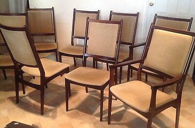REDUCED! Danish Spottrup Design (8) Dining Chairs Rosewood 1970's RETRO