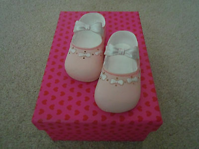 Decorative ornamental pink baby shoes