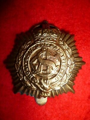 The Army Service Corps Unvoided Economy KC Cap Badge WW1, George V