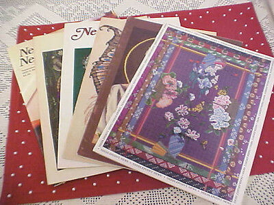 Lot of 6 Vintage Needlepoint News Magazines 1983-1985 Charts Patterns Projects