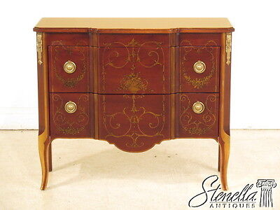 40519E: JOHN WIDDICOMB Paint Decorated 2 Drawer French Style Commode