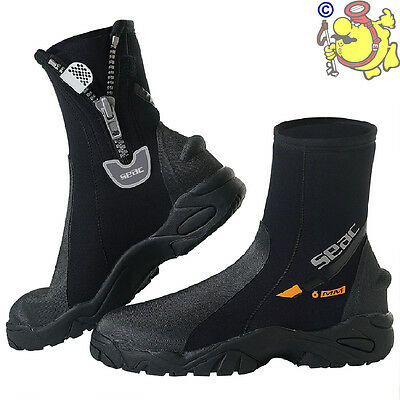 UK SEAC SUB Pro HD 6 mm Scuba Diving Neoprene Hard Sole Boots