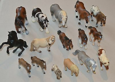 Large Selection of 16 Schleich Horses, Ponies, Foals etc
