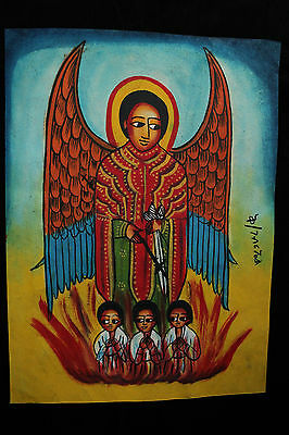 Ethiopia: Leather Painting, traditional! Äthiopien: Leder-Gemälde, traditionell!