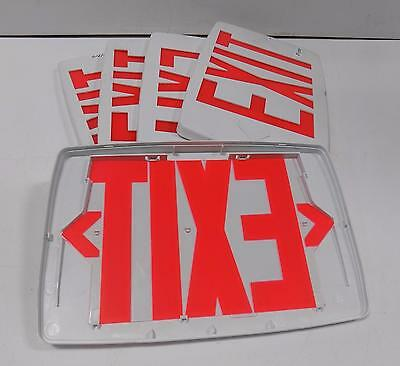 Quantum Lqm Led Exit Sign Replacement Covers, Lot Of 5