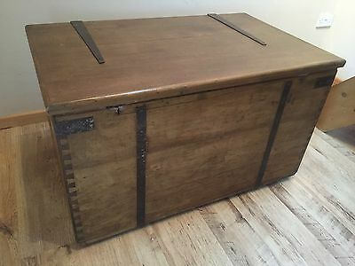 Huge Enormous Professionally Restored Pine & Beech Trunk / Box - Great Storage