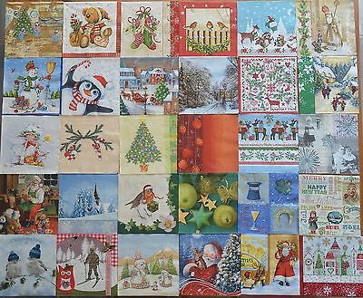 LOT N°16 de 30 SERVIETTES PAPIER NOEL TOUTES DIFFERENTES