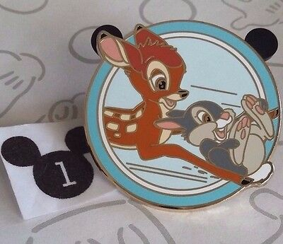 Bambi and Thumper Sliding on Ice Best Friends Mystery Disney Pin Buy 2 Save $