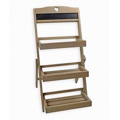 Rustic Wooden 3 Tier Plant Stand Wood Display Shabby Chic