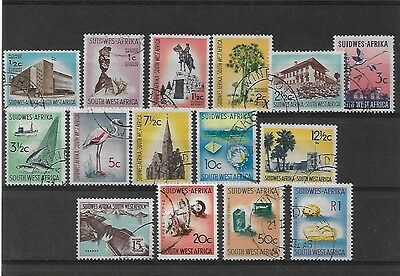 South West Africa 1961 Definitives Fine Used, Sg171/85, Cat £18
