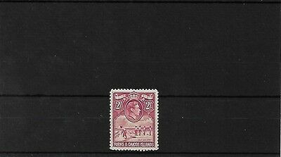 Turks & Caicos 2/- Mounted Mint, Sg203A, Cat £22