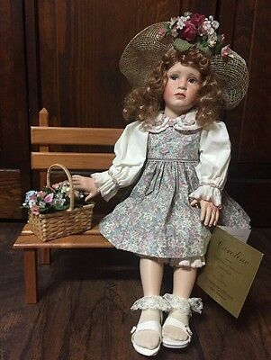 """""""Caroline"""" Collectible Porcelain Doll by """"Pamela Phillips"""" in Box w/Certificate"""