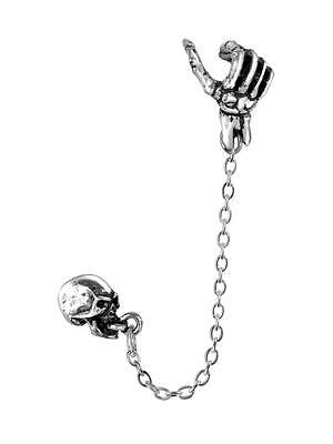 Mortal Remains Cuff-stud Earring - Alchemy Gothic Jewellery E278