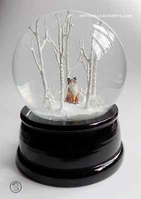 RED FOX / kitsune in the woods Snowglobe; (LARGER version) Japanese, Shinto