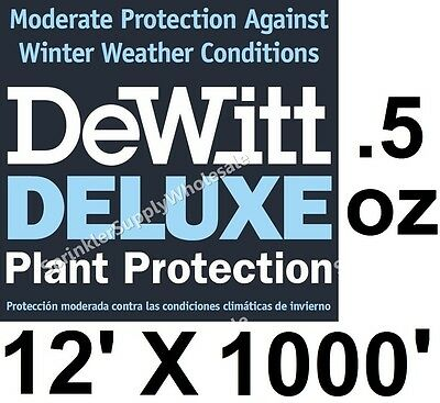 DeWitt Deluxe 12' X 1000' .5 oz Frost Freeze Cloth Germination Blanket Deluxe12