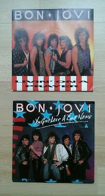 Bon Jovi You Give Love A Bad Name & Livin On A Prayer . Great Condition