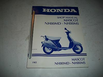 Official 1983 Honda Nh80Md-Nh80Ms Mascot Scooter Shop Manual Excellent Condition