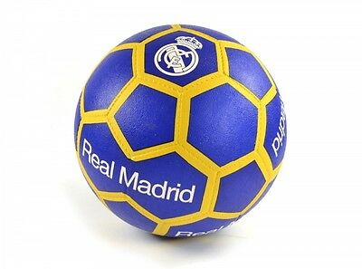 Real Madrid Football Soccer All Surface Match Ball Size 5 Blue Yellow Official