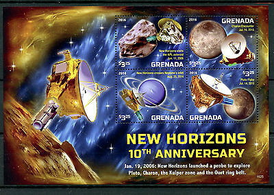Grenada 2016 MNH New Horizons Mission to Pluto 10th Anniv 4v M/S Space Stamps