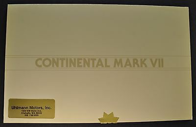 1984 Lincoln Continental Mark VII Brochure Bill Blass Versace LSC Original 84
