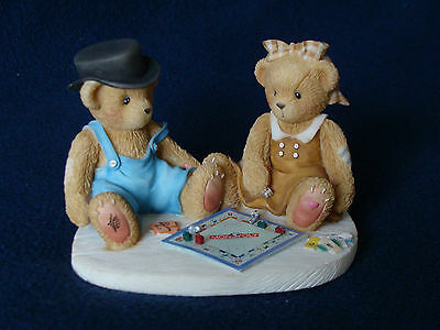 Cherished Teddies - Jerald And Mary Ann - Boy And Girl Playing Monopoly - 811742