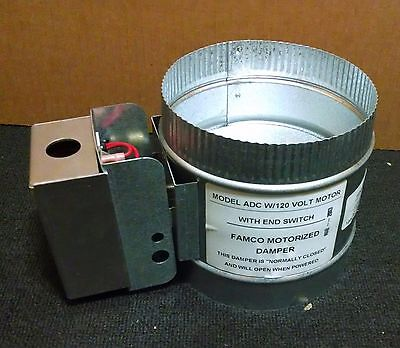 "8"" 120 VOLT FAMCO MOTORIZED DAMPER with end switch"