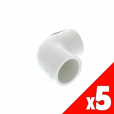 Elbow PVC 90 Degree 20mm HRP0132020 Pressure Pipe Fitting x5