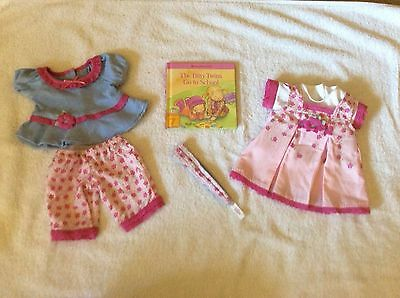 Bitty Baby Twin Girls Sweet Pink Outfit dress shoes lot