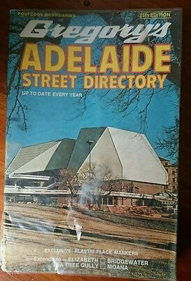 Vintage Gregory's Adelaide Street Directory 25th Edition 1974 GC