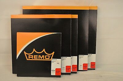 "Lot of 5 Remo Emperor Coated Drum Heads | 10"" 12"" 16"" 