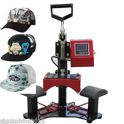 110V / 220V  Double Stations Cap Hat Heat Press Machine for Cap  Hat
