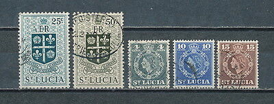 St. Lucia #160//170 used,1953 Definitives
