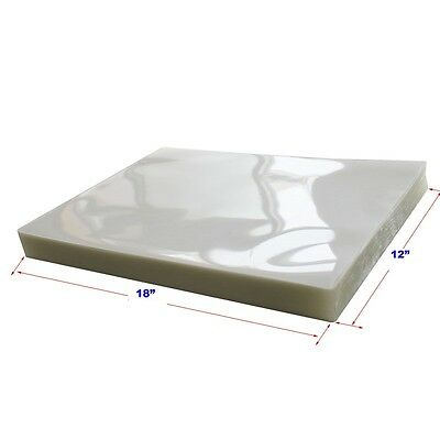"Pouching Film 100Pk 5Mil 18x12""  Clear Laminating Thermal Hot Lamintor Glossy"