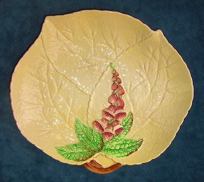Pretty Vintage Carlton Ware Leaf Shaped Yellow Foxglove Plate