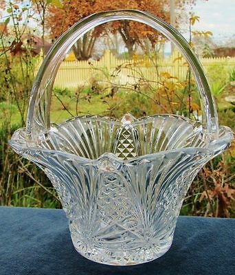 Beautiful Vintage Lead Crystal Basket
