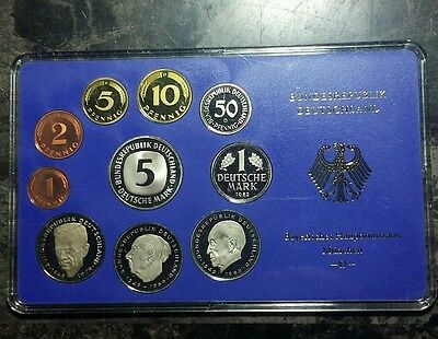 1982 D Germany Proof Coin Set  Munich Mint Beautiful Coins