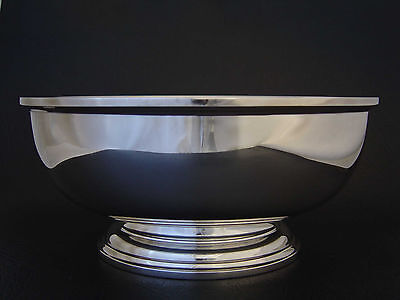 "BIRKS FINEST REGENCY SILVER PLATE PAUL REVERE #1612FOOTED BOWL 9"" EX. Condition"