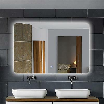 DECORAPORT Horizontal LED Lighted Bath Vanity Wall Backlit Mirror Touch Button