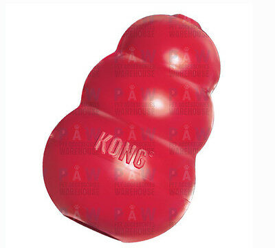 KONG CLASSIC MEDIUM T2 Red Tough Durable Dog Rubber Chew Toy Stuffing Treats