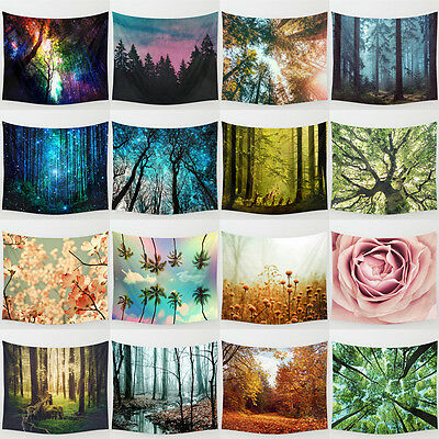 Vintage forest Tree Hanging Wall Hippie Tapestry Home Decor Yoga Beach Towel