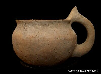 Ancient Holy Land Dipper Cup; Late Bronze Age Period, 1200 - 1000 B.c. • CAD $440.42