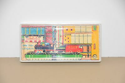 Vintage Mini SIMPLEX Holland Wooden Train Puzzle - Complete with case & Inst.