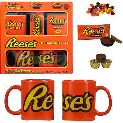 Hershey's Reese's Holiday Gift Set 2 Ceramic Reese's Mugs @4FreeShipping CANDY