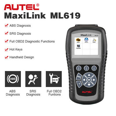 Autel AL619 Auto Scan OBD2 Diagnostic Scanner Code Reader Reset SRS ABS